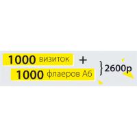 1000 Визиток + 1000 флаеров А6